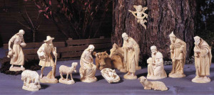 Anri - Original Karl Kuolt nativity - plain wood